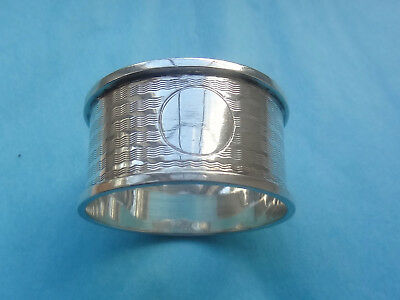 Vintage STERLING SILVER NAPKIN RING -Birmingham 1922 - Wilmot Manufacturing Co