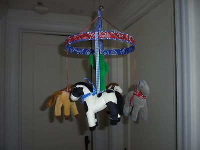 NEW Western Cowboy Horse  Mobile Kid's Bedroom Decor non-musical