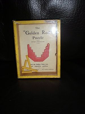 The Golden Rod vintage wooden puzzle game