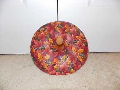 * LONGABERGER * Fabric Lid w/ Wooden Stem (SMALL PUMPKIN BASKET) fall, halloween