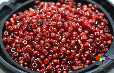 New 2mm 1000 Pcs Round Dyeing Hearts Gilding Glass Loose seed Spacer Beads A-41