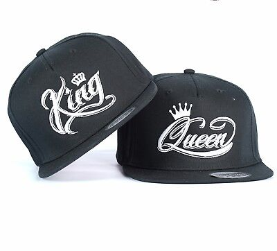 King And Queen Couple White Crown Snapback Hat Cap Embroidered Ideal Gift 15 99 Picclick Uk