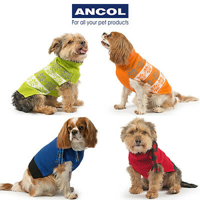 Ancol Muddy Paws Warm Stylish Nordic Scarf Dog Puppy Jumper Sweater Xmas Gift