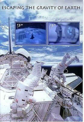 Usa 2000 'stamp Expo 2000' Escaping The Gravity Of Earth Hologram Stamps Mnh
