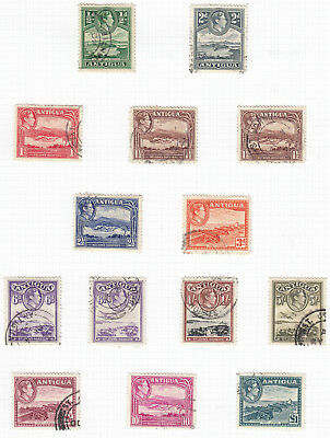 Antigua SG98/109 1937 KGVI Set  Fine Used