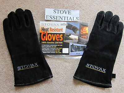 Stovax Leather Heat Resistant Stove Gloves Gauntlets