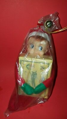 knee hugger pixie elf made in Japan new woth a box of whitmans chocolate