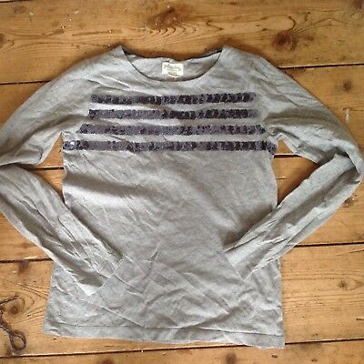Mini Boden Johnnie B Boden grey sequin top age 13-14 years