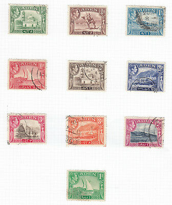 ADEN stamps - GVI on 2 pages good to fine used to 2rs