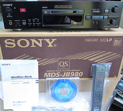 SONY MINIDISC Hi-Fi DECK MDS-JB980  EXCELLENT, But faulty Analogue