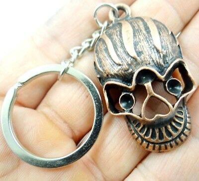 Creative Key Chain Ring Keyring alloy Keychain Gift Tool  Skull head Pendant D36