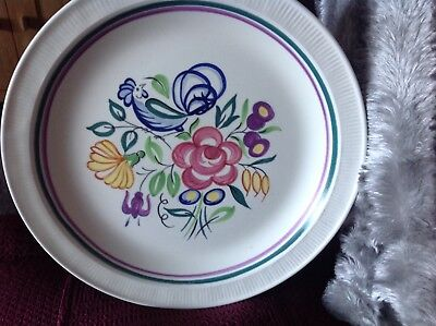 """Poole Pottery Le Pattern 10"""" Dinner Plate"""