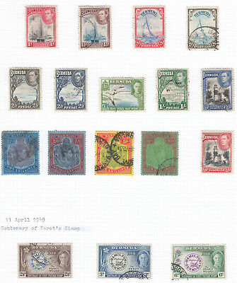 Bermuda 1938 Part set to 10/ (Perf 14) SG110-119 - good to fine used + Extras