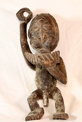 Vintage African Wood Hand Carved Statue