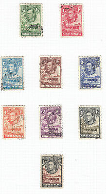 Bechuanaland 1938 Part set to 10/ - SG118-128 Fine Used