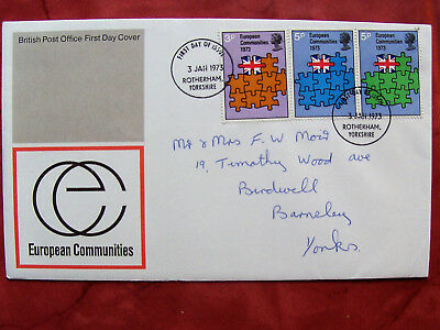 Stamps: U.K. First Day Cover - European Communities