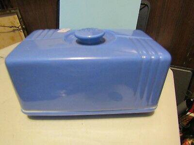 "westinghouse butter or cheese dish blue 4"" t x 61/2 w  westinghouse by hall chin"