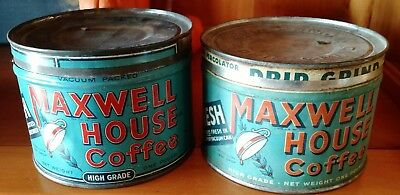 Vintage Maxwell House Coffee Can Tin Antique Advertising Display, estimate 1940s