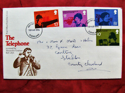 Stamps: U.K. First Day Cover -  The Telephone