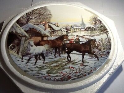 Wedgwood Christmas Companions Christmas Visitors 1995 Collectors Plate