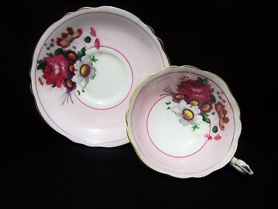 Paragon Wide Pink Tea Cup & Saucer Set Rose Garden Bouquet England