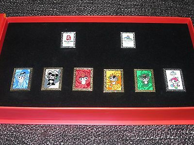 Beijing 2008 Olympic & Paralympic Mascots Pin Badge Collectors Box Set