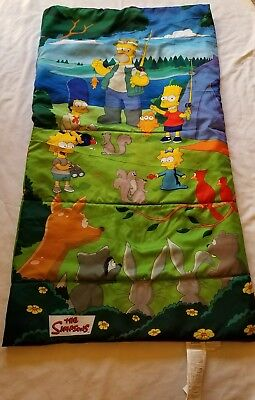 The Simpsons Bart Homer Marge Lisa Fishing Camping Sleeping Bag Rare 2004