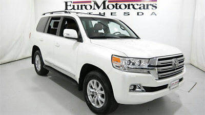 2016 Toyota Land Cruiser 4dr 4WD 2016 toyota land cruiser v8 5.7l automatic navigation white terra leather  used