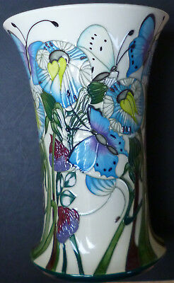 Moorcroft Vase - The Butterfly Collection Designed by Emma Bossons FRSA - 2009