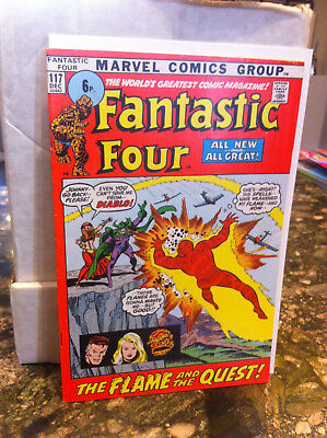 Fantastic Four #117...1971...the Flame And The Quest