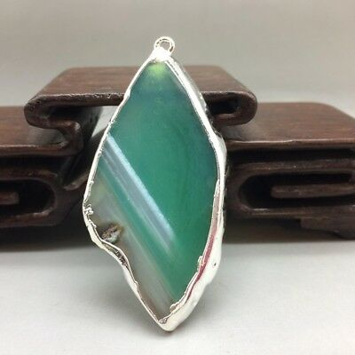 Chinese ancient natural agate Mosaic gold pendant