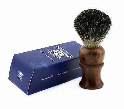 Pure Black Badger Hair Men's Shaving Brush With Pure Rose Wood Handle.