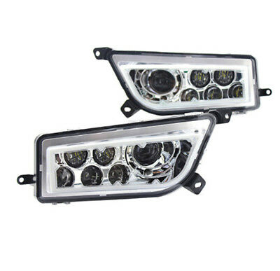 2015-2017 Polaris Rzr 900 S- White Amber Rgb Led Halo Headlights Rzr Xp 1000