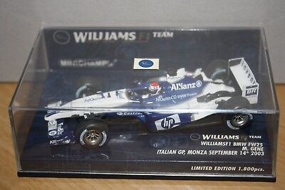 """Marc Gene Williams FW25 """"Italy 2003"""" *Signed* 1:43rd Scale Model"""