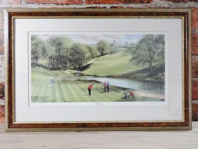 Golf Scene - High Tee by Terry Harrison Signed Print Framed