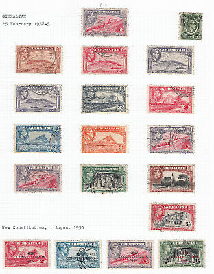 Gibraltar 1938 definitives SG121-131b part set to 5/ -good to fine used + Extras