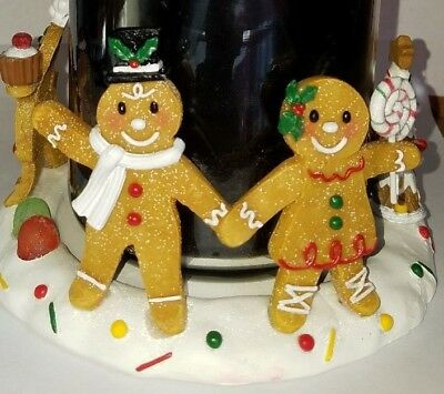 Yankee Candle Gingerbread Man Candle Jar Holder Christmas Decor Gum Drops Candy