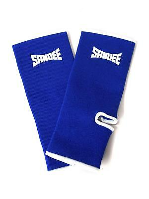 Sandee Premium Blue & White Ankle Supports (pair) Muay Thai Protection Anklet