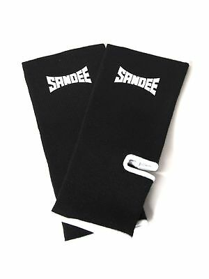 Sandee Premium Black & White Ankle Supports (pair) Muay Thai Protection Anklet