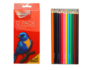 12 Pencils Pack High Quality Professional Assorted Colouring Pencils