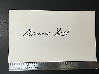 Bruce Lee signed  with postcard