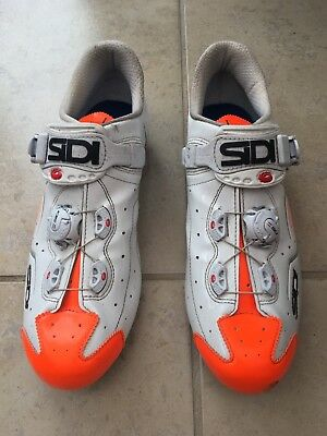 Sidi Carbon Road Cycling Shoes. Fluoro Orange and White, Size 44.