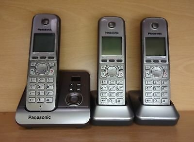Panasonic KX-TG6723 Triple DECT Telephone with Answerphone System -BX