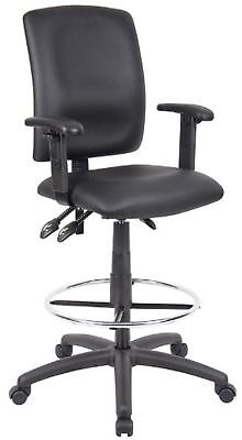 Multi-Function Budget Drafting Stool - Fabric w/ Adjustable Arms