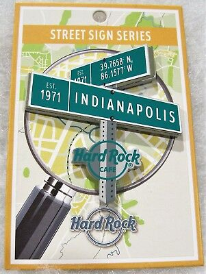 Hard Rock Cafe Indianapolis 2017 Limited Edition Street Sign Series Pin