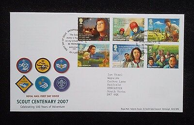 Stamps. 2007.  First Day Cover.  Centenary Of The Boy Scouts.