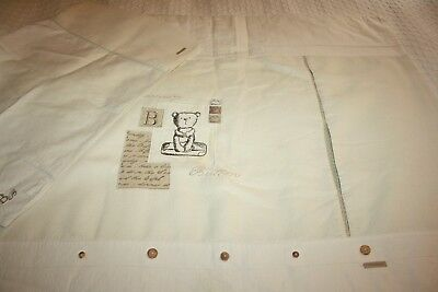 Mamas and Papas Barnaby Buttons Quilt & Pillowcase for Cot/Cot bed 100% Cotton