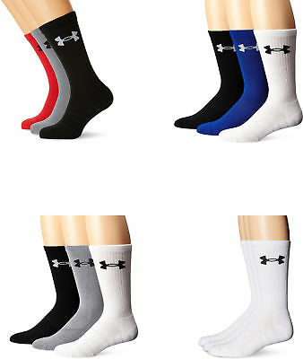 Under Armour Men's Elevated Performance Crew Socks, Assorted Colors, 3 Pairs