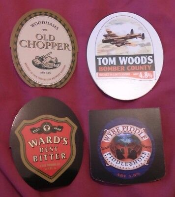 4 Beer pump badge clip VARIOUS brewery ale pumpclip INSERTS wyre piddle ward's