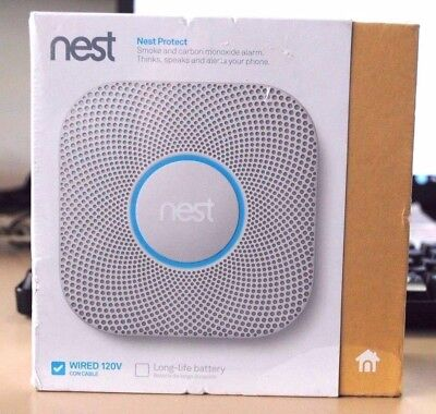 NEW!! SEALED!! Nest Protect Smoke Plus Carbon Monoxide (Wired S3003LWES)